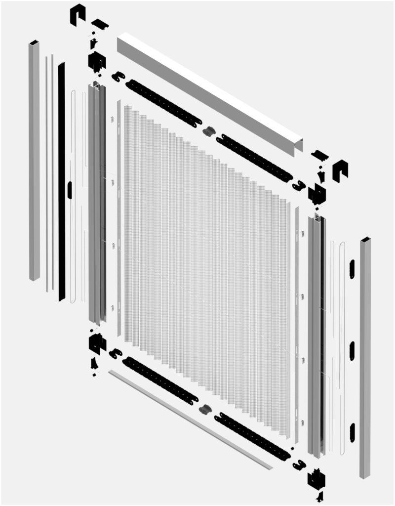 Moskitiera drzwiowa Plisse 20 mm