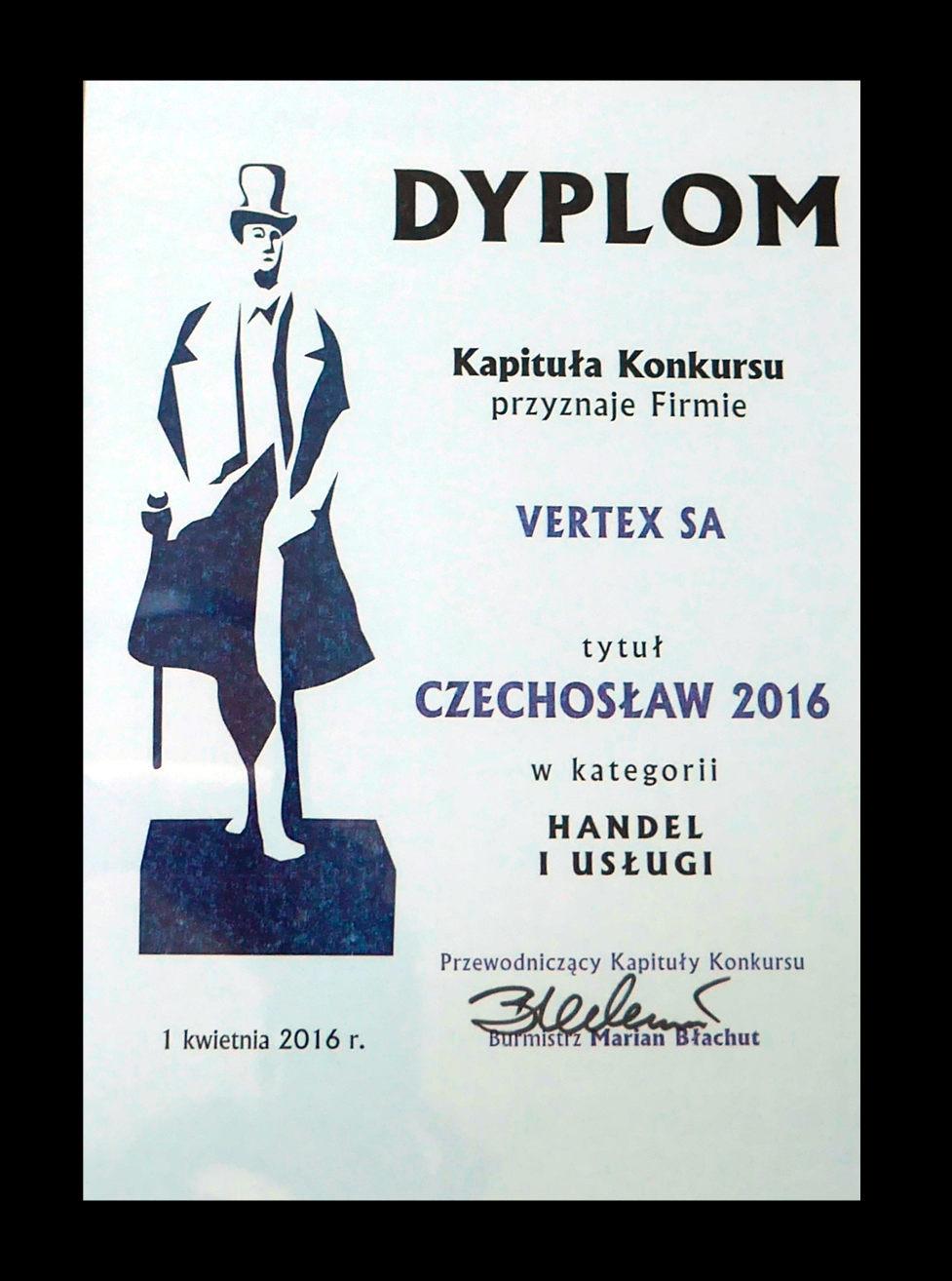 Dyplom Czechosław