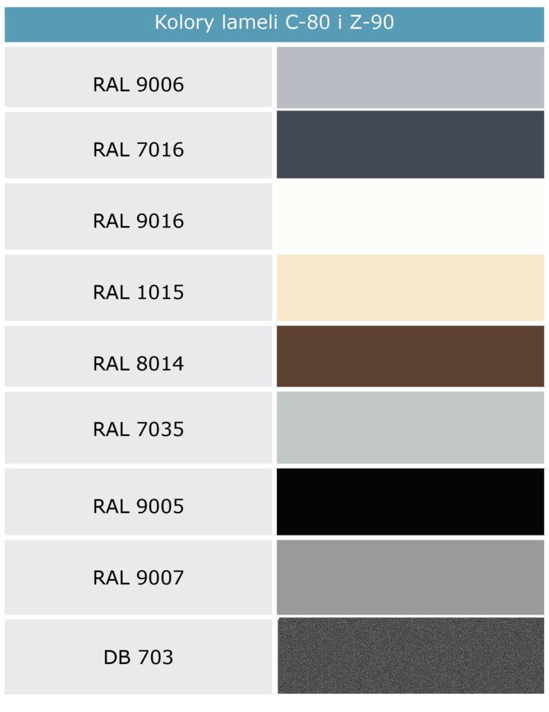 kolory lameli
