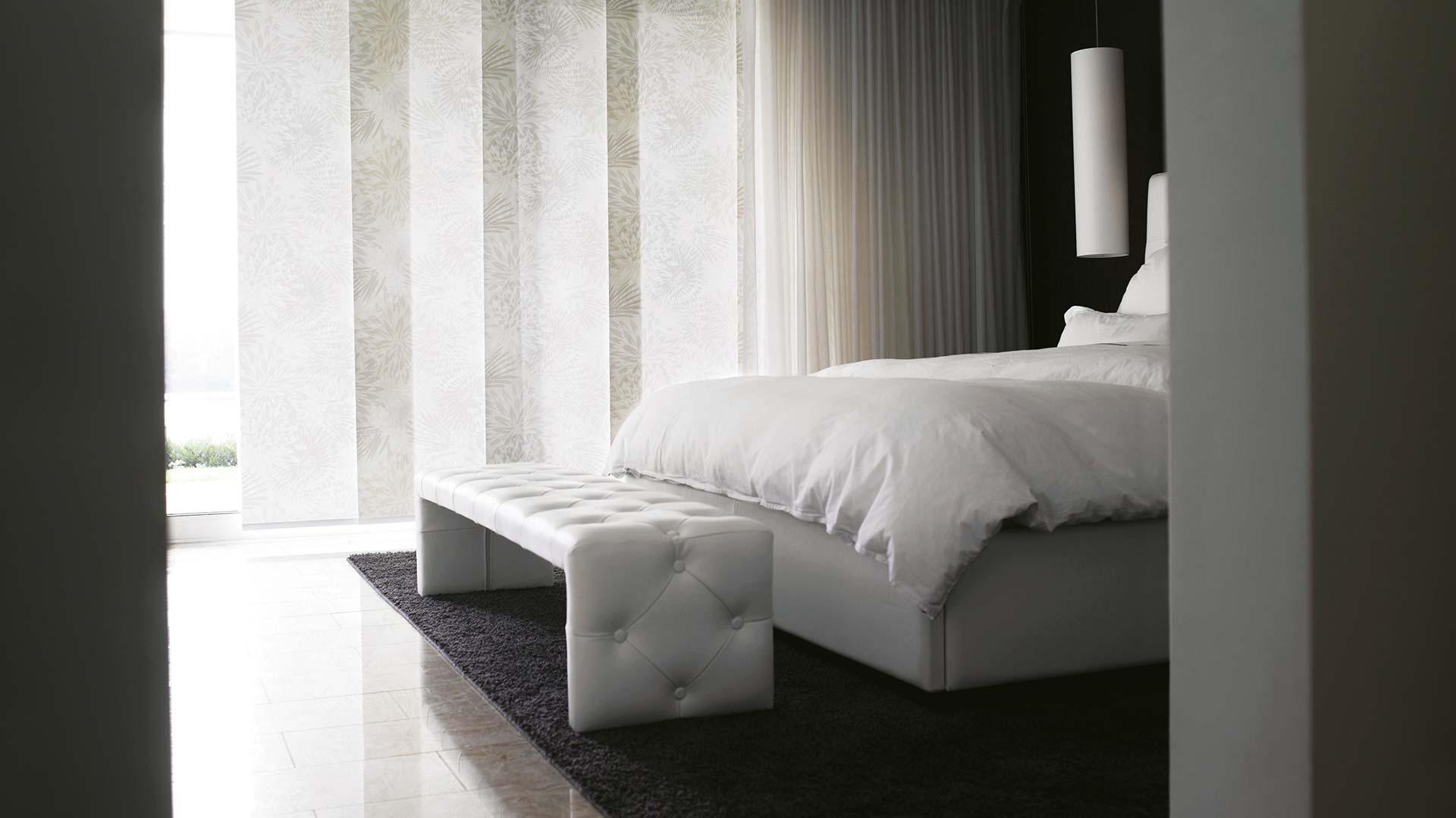 panele japońskie aranżacja sypialni