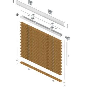 żaluzje drewniane łańcuszkowe 25 mm