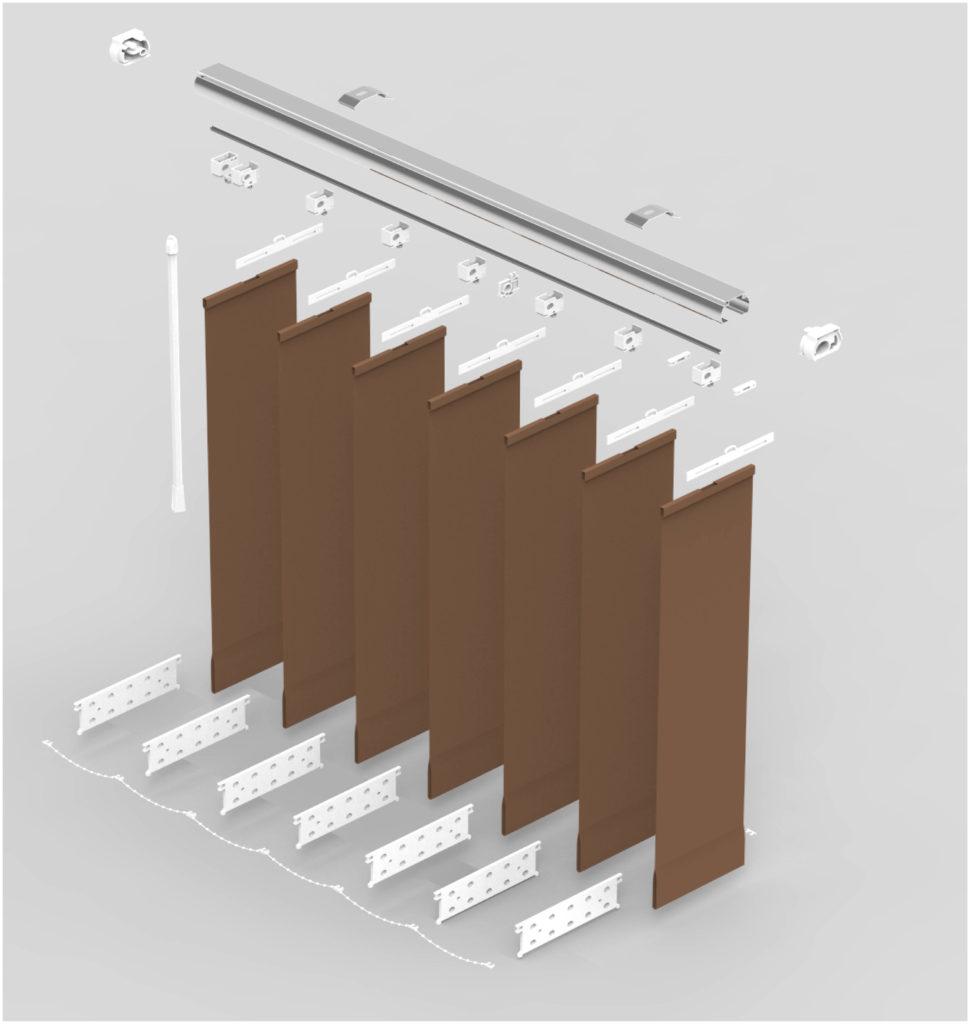 żaluzje pionowe verticale exclusive